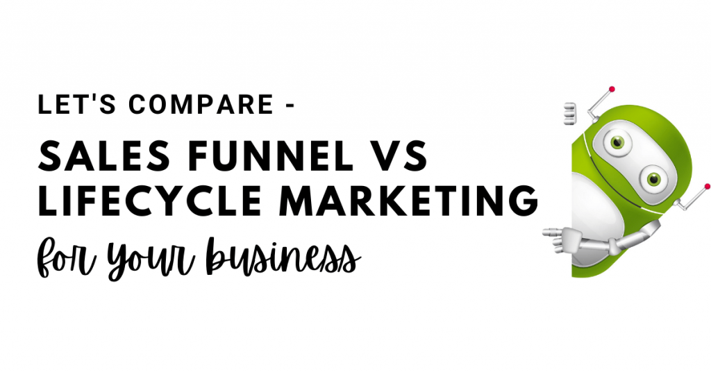 sales funnel vs lifecycle marketing
