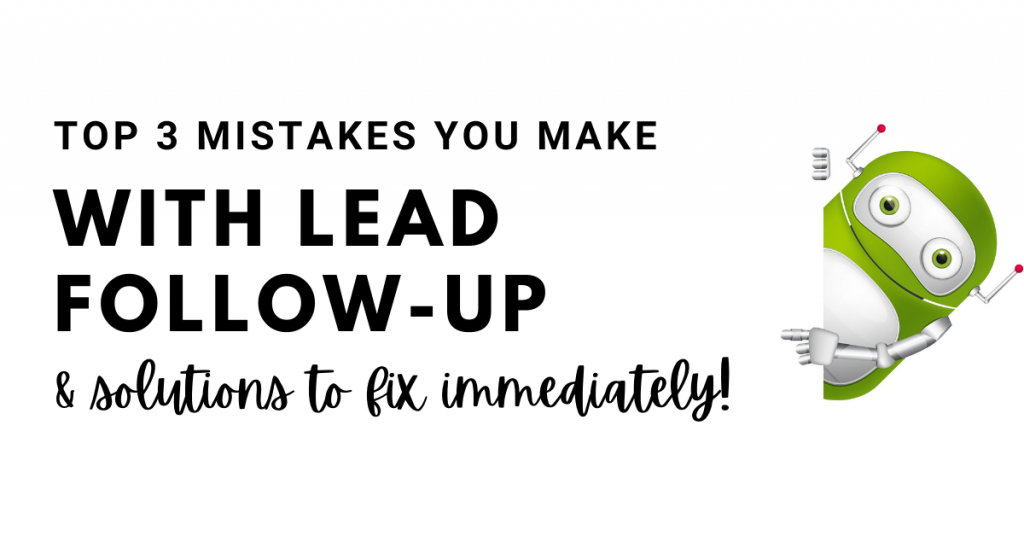lead follow-up mistakes