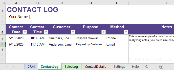 getting started with crm in spreadsheet